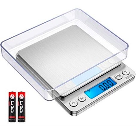 AMIR DIgital Kitchen Scale, 500g ).01g Mini Pocket Jewelry Scale