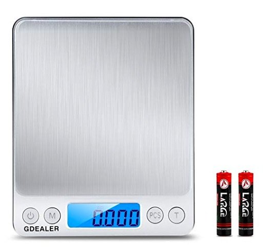 GDealer DS1 Digital Pocket Kitchen Scale