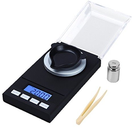 WAOAW Digital Milligram Scale 50 X 0.001g Reloading Jewelry Scale